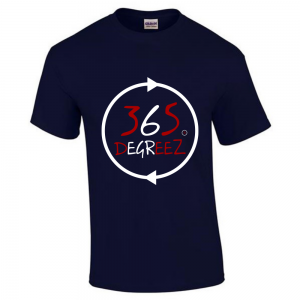 365 DEGREEZ - Navy (White Circle) Unisex Shirt