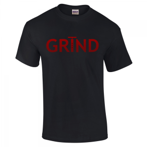 GRIND - Black (Red) Unisex Shirt