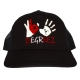 365 Hands - Trucker Cap - Black With White Red Print