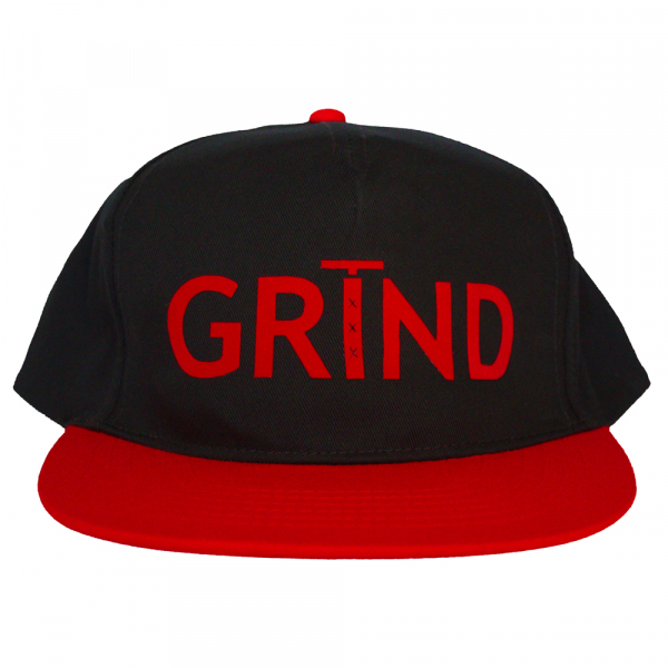 GRIND - Adult Snapback - Two Tone Black Red